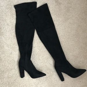 "ASOS pointy over the knee ~ 3"" high heel boots"